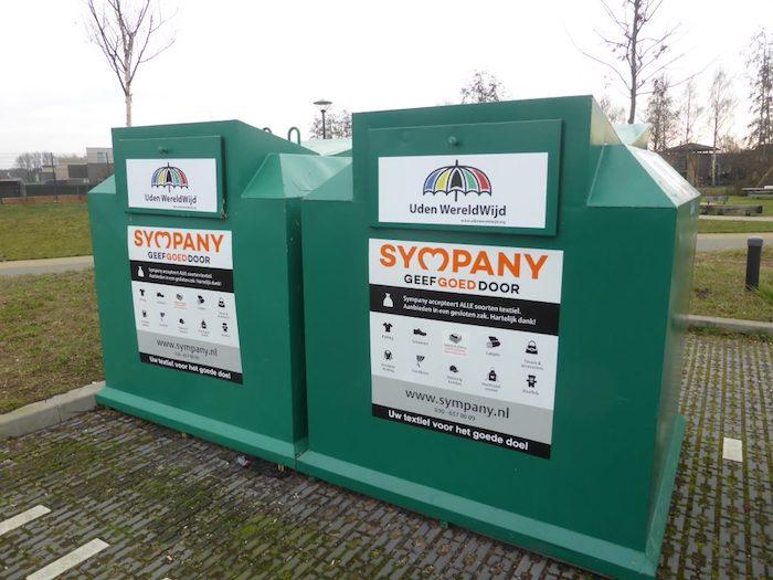 Containers para doar roupas usadas na Holanda
