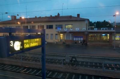 Rovaniemi - Estação de trem - Finlandia Papai Noel Laponia