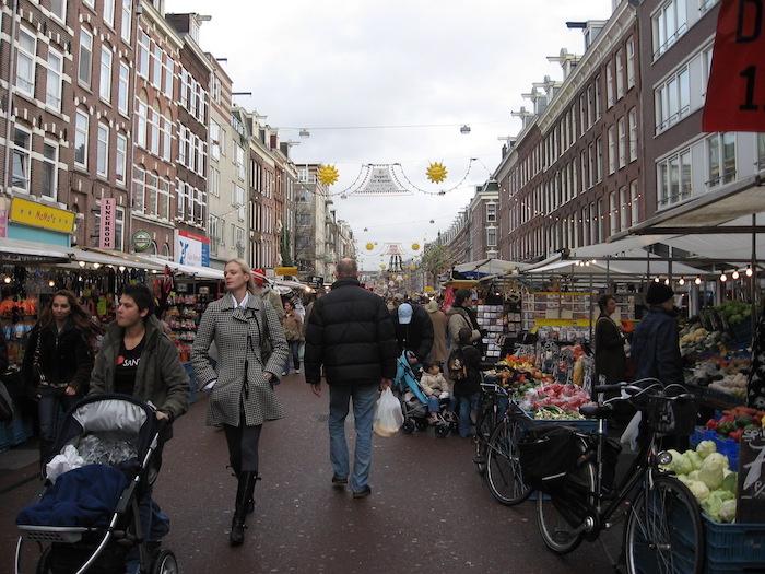 Feira de rua em Amsterdam - Albert Cuyp