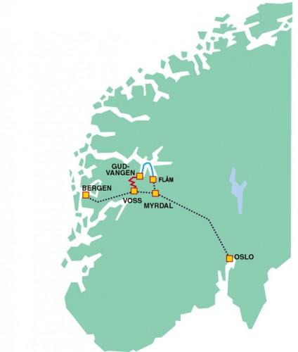 Noruega. Roteiro dos Fiordes e a ferrovia Flam - (c)Bailandesa.nl
