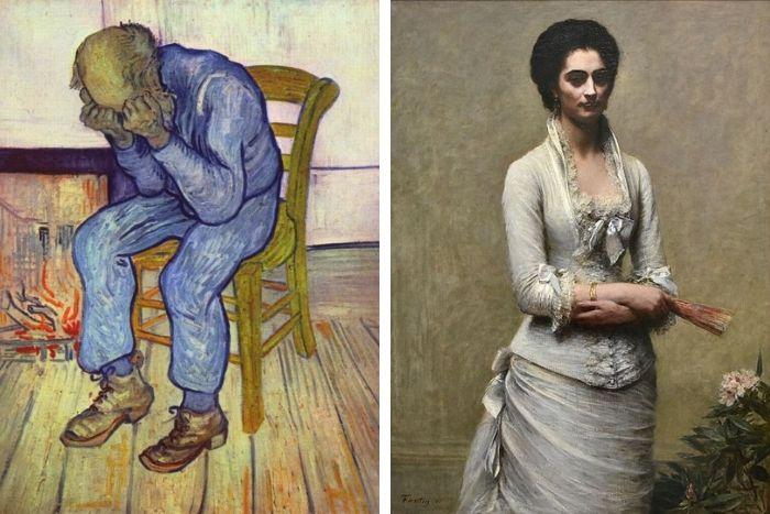 Retrato de Eva Callimachi-Catargi e o Van Gogh Treurend man