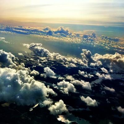 Vista do avião - Nuvens