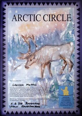 Certificado Círculo Polar Ártico - Finlândia