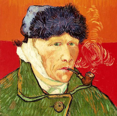 On the verge of insanity exhibition van-gogh-bandaged-ear-self-portrait1